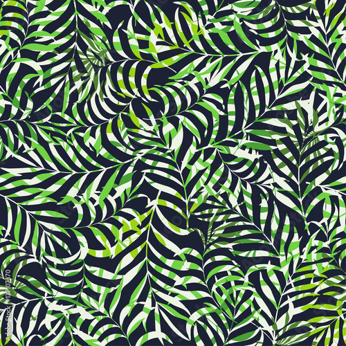 Recess Fitting Tropical leaves Tropical background with palm leaves. Seamless floral pattern