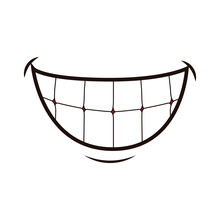 Mouth Laughing Cartoon Icon Ve...