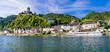 Leinwanddruck Bild - Landmarks of Germany - medieval Cochem town, famous for Rhine river cruises