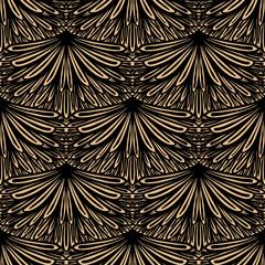 NaklejkaArt deco vector floral pattern