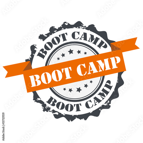Fotografie, Obraz  Boot camp stamp.sign.seal. logo