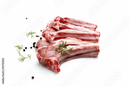 Raw Lamb chops Fototapeta