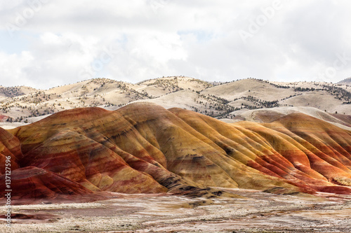 Painted Hills, Mitchell, Oregon, United States of America Poster