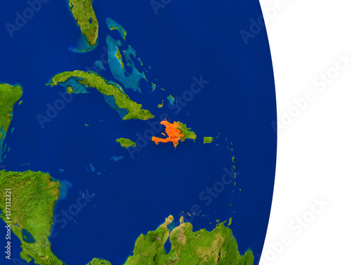 Haiti on Earth Wallpaper Mural