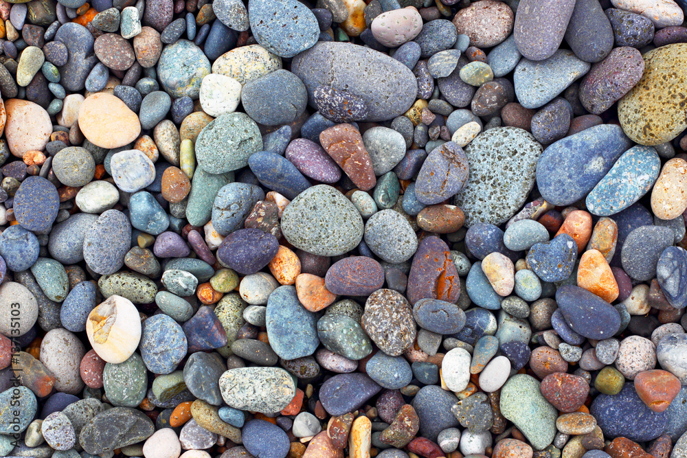 Fototapety, obrazy: Background of stones. Pebble. Construction material.