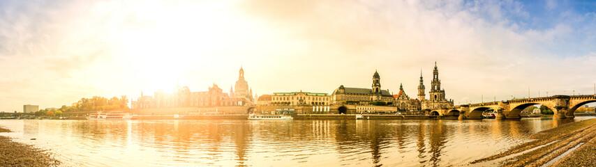 Fototapeta Dresden, Elbuferpanorama