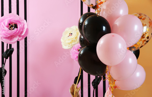 Photo  Beautiful room decorated for party