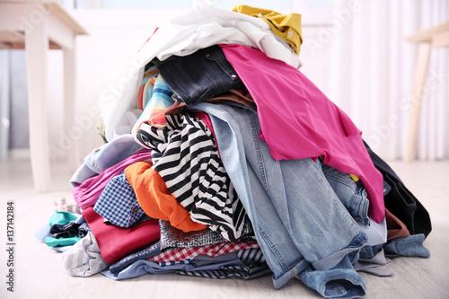 Fotografie, Obraz  Messy colorful clothing, closeup