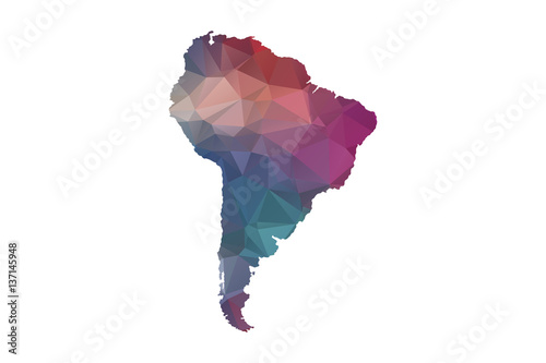 Fotomural  low poly south america