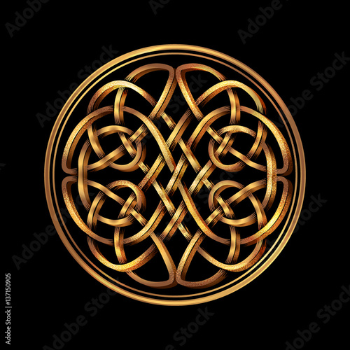 Celtic folk ornament - 137150905