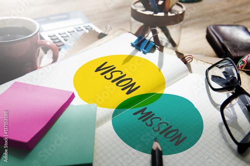 Fotografía  Vision Mission Achievement Ambition Management