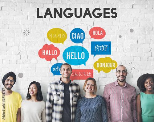Fotomural  Multilingual Greetings Languages Concept