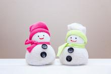 Handcraft Toy Snowmen Made Fro...