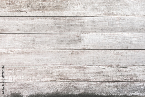 fototapeta na szkło White wood panel