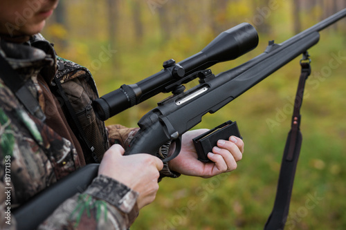 Hunter loading rifle
