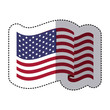 symbol american flag sign icon, vector illustration