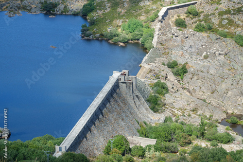 Vega de Tera broken dam in Zamora, Spain