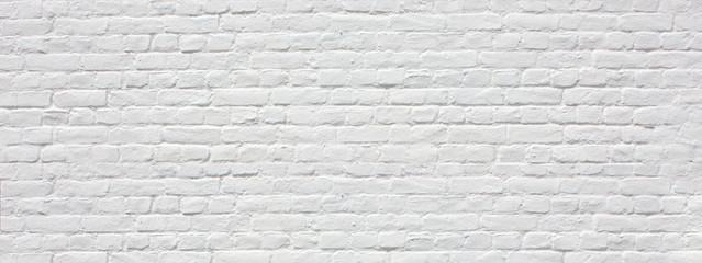 Panel Szklany Skandynawski Mur en briques blanches