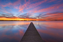 Sunset At The Jetty Of Valkenb...