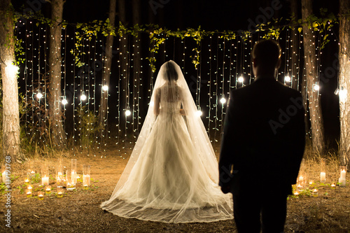 Fotografie, Obraz  Wedding ceremony night