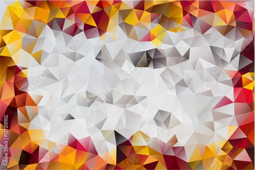 Foto op Aluminium ZigZag abstract background of triangles
