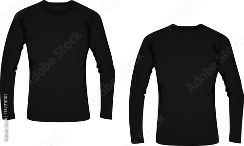 фотография  Long sleeve t-shirt vector