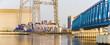 Szczecin,Poland,February 2017:Factory platform in offshore wind