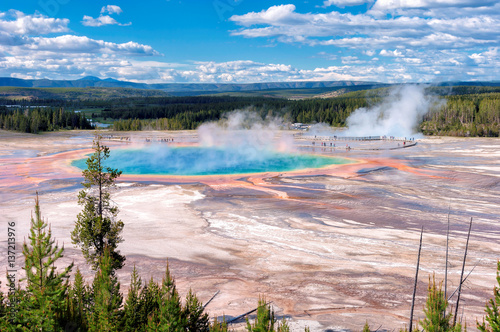 Poster Parc Naturel Majestic Grand Prismatic Spring in Yellowstone National Park.