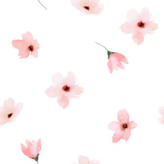 FototapetaWatercolor seamless pattern. Painted flowers design