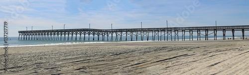 Fishing Pier At Holden Beach North Carolina
