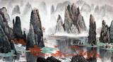 Chiński krajobraz gór i wody - 137222115