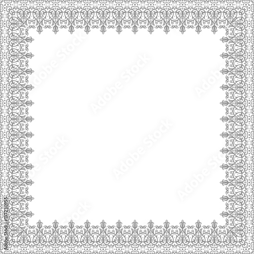 Fotografía  Classic square frame with arabesques and orient elements