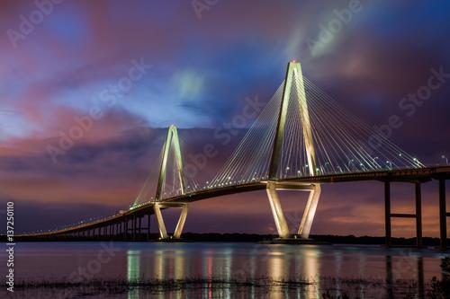 Canvas Prints Bridge Ravenal Bridge Charleston SC