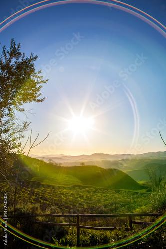 Romantic morning light in Sicily.  Road trip around the largest island in the Mediterranean Sea. Some landscape captures and great impressions of this lovely part of Italy. #137250503
