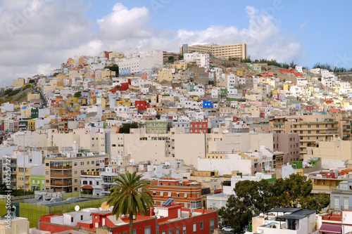View on the city Las Palmas, the capital of the Canary Island Gran Canaria, Spain.