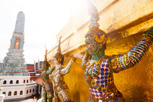 Giant Buddha In Grand Palace