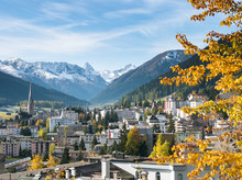 Davos In Autumn, Graubunden, Switserland, EU