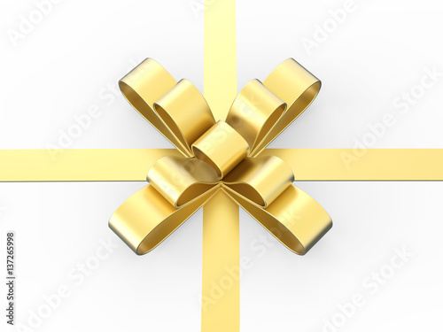 3d illustration gold gift bow buy this stock illustration and