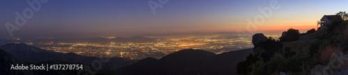 Obraz na płótnie San Bernardino w czasie zachodu słońca