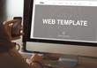 Web Template Internet Tecnology Concept