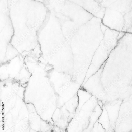 Staande foto Stenen White (gray) marble patterned (natural patterns) texture background.
