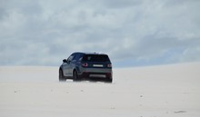 4x4 Driving In Dunes Of Sand