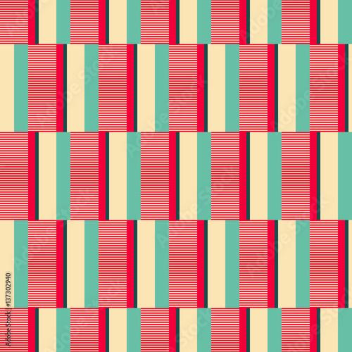 Tapeta ścienna na wymiar seamless geometric retro pattern