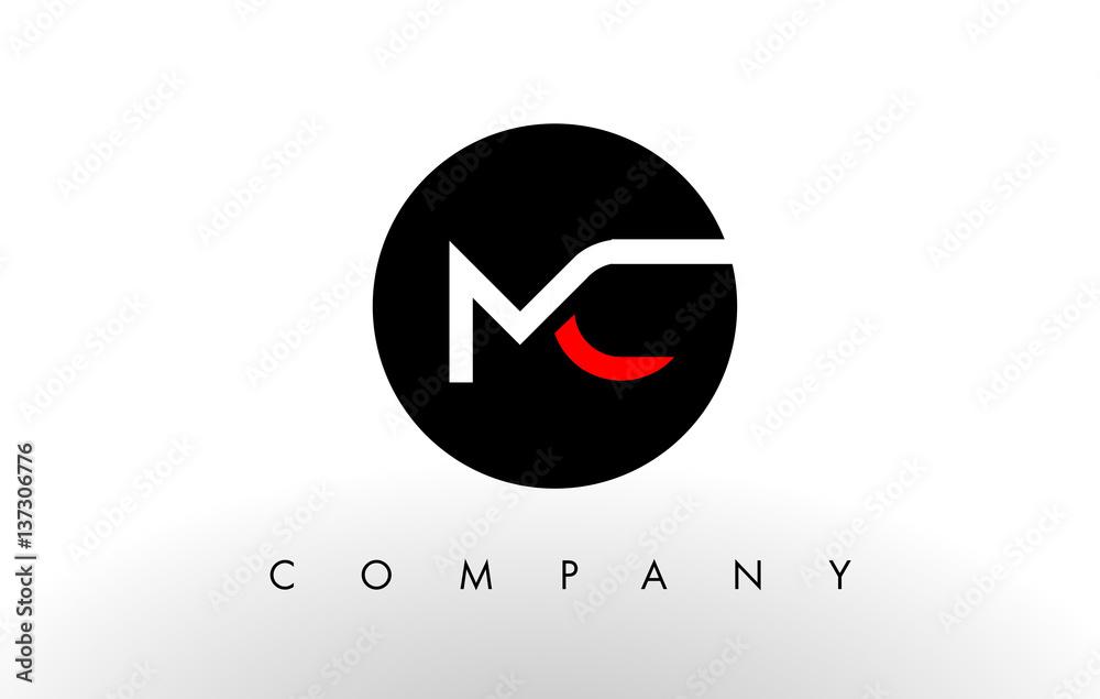Fototapeta MC Logo.  Letter Design Vector.