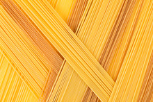 Italian Long Spaghetti Top View Abstract Background Of Different Colors.