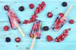canvas print picture - Eis mit frischen Früchten