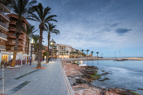 Cityscape of Torrevieja in Spain, popular tourist destination