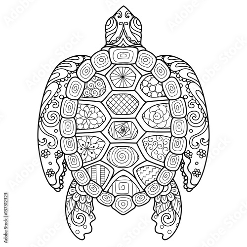 Zendoodle stylized turtle for T-Shirt design,tattoo and adult ...