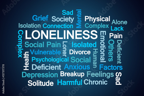 Fotografie, Obraz  Loneliness Word Cloud