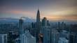 Timelapse of Kuala Lumpur skyline during sunrise